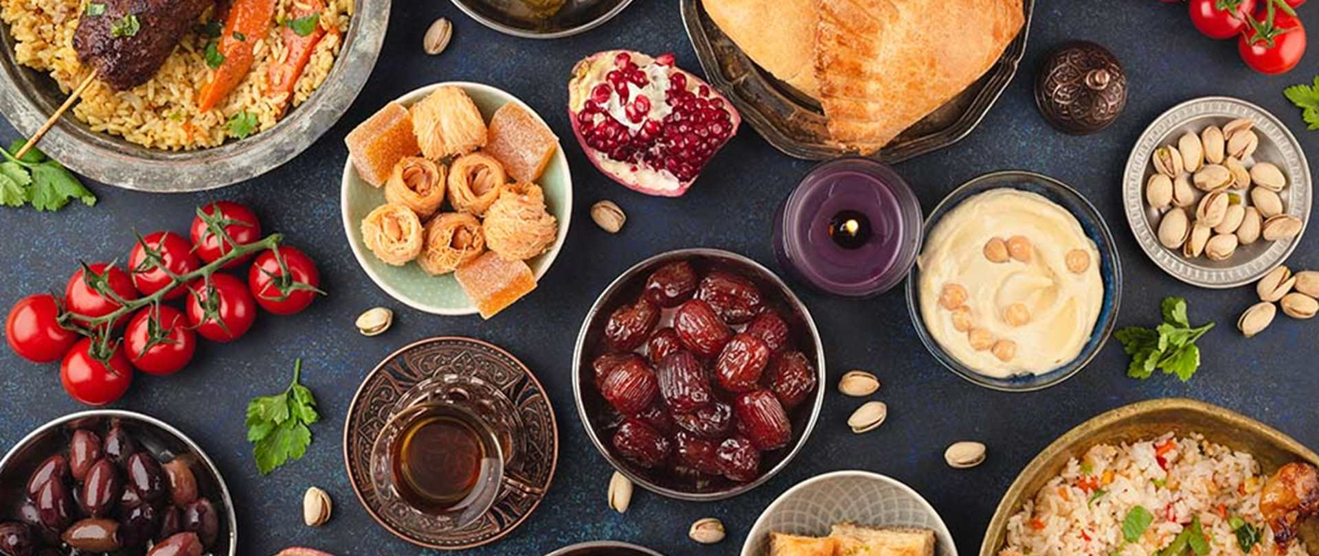 A mixture of foods to be enjoyed on Ramadan